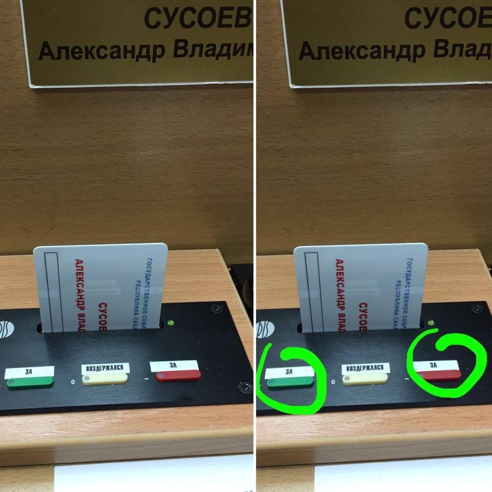 Голосование в парламенте Сусоев