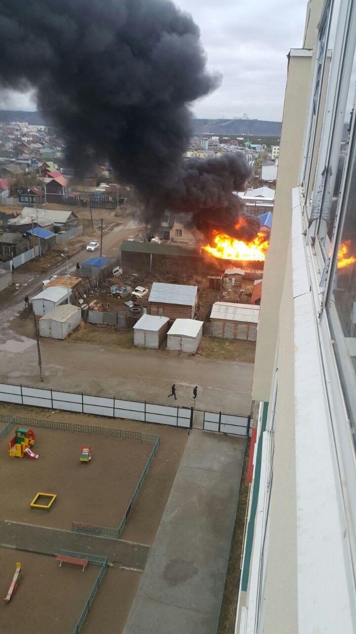 пожар в сайсарах