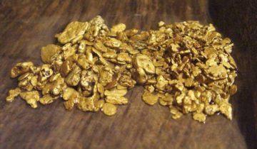россыпь золота