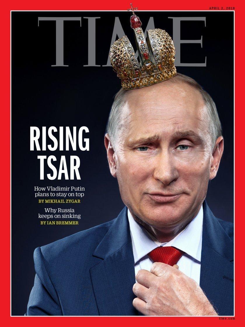 Обложка апрельского номера европейской версии журнала Time