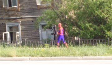 Супергерои, Якутск, спайдермен, герои на улице