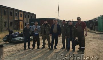 Группа геологов Приленской экспедиции