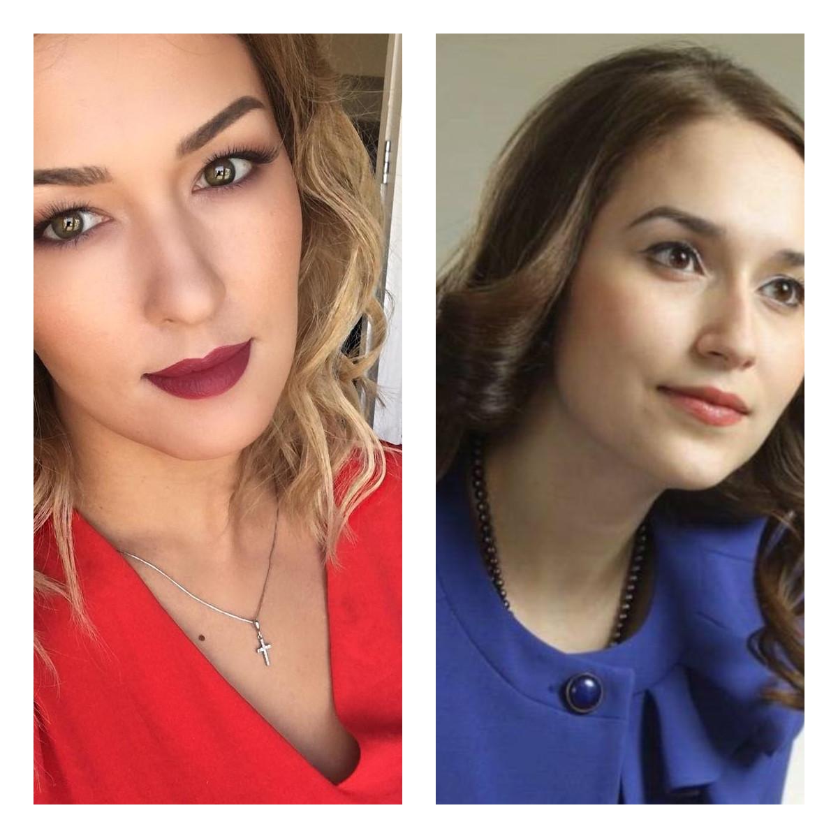 Вероника - слева, Ирина - справа