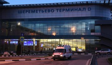 """MOSCOW REGION, RUSSIA - MAY 5, 2019: An ambulance car outside Terminal D at Sheremetyevo Airport where an Aeroflot Sukhoi Superjet-100 (SSJ100) passenger aircraft made an emergency landing at around 6.40pm Moscow time; the crashlanding and the fire aboard the aircraft have resulted in casualties. Maxim Grigoryev/TASS  ??????. ?????????? ???????. ?????????? ?????? ?????? ? ????????? ???????????. ? ?????????? ?????????? ? ???????? Sukhoi Superjet-100 ? ???????? ??????? RA-89098 ???????????? """"????????"""", ??????? ???????? ? ???????? ?? ?????? ? ???????? ??????????? ??????? ? ????????? ???????????, ??????? ????. ?????? ?????????/????"""