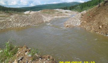 Восстановленный руслоотвод в верховьях р.Талая