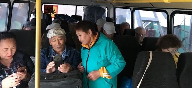 ветераны в автобусе