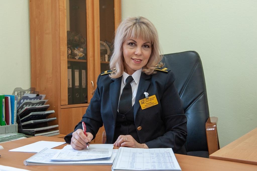 Кулешова Ольга Петровна, начальник вокзала ст. Алдан