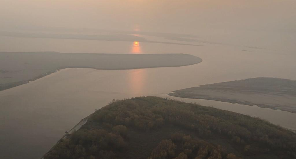 Видеофакт: Якутяне совершили перелет через реку Лена на воздушном шаре