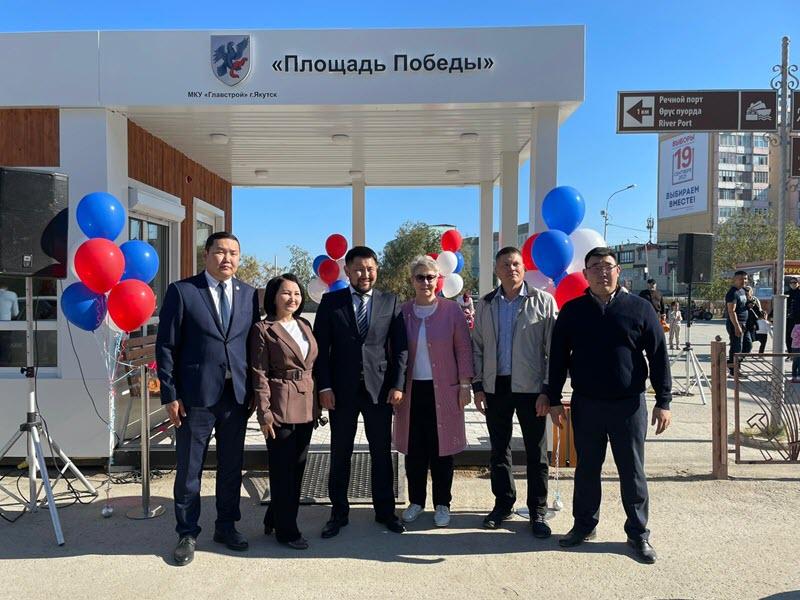 На День города в Якутске открыли тёплые остановки и спортивные площадки