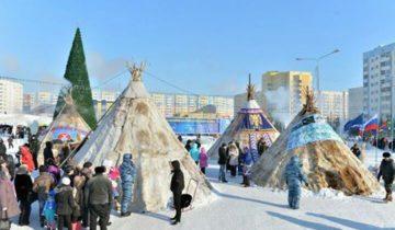 Оленеводы в Якутске