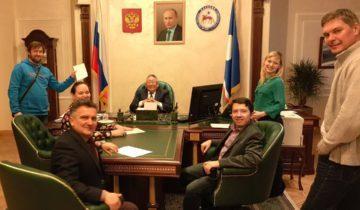 Егор Борисов во время съемок
