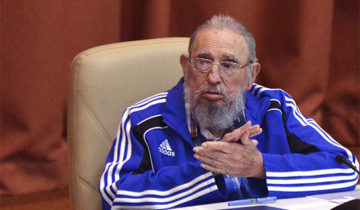 Cuba's former president Fidel Castro attends the closing ceremony of the seventh Cuban Communist Party (PCC) congress in Havana, Cuba, in this handout received April 19, 2016. Omara Garcia/Courtesy of AIN/Handout via REUTERSATTENTION EDITORS - THIS IMAGE WAS PROVIDED BY A THIRD PARTY. EDITORIAL USE ONLY.      TPX IMAGES OF THE DAY - RTX2AOU5