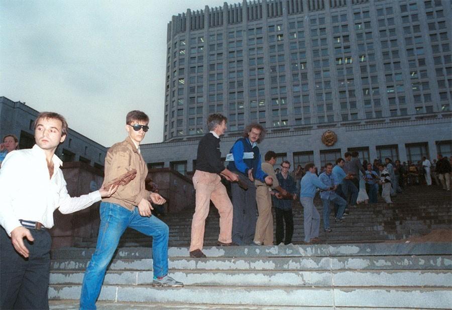 Сергей Юрков в августе 1991 года