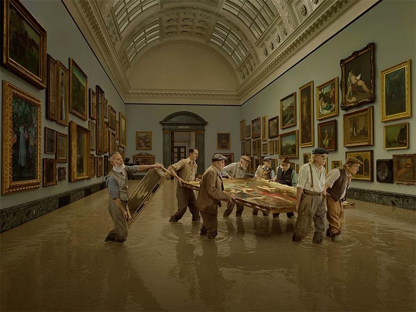 Затопление британской галереи Тейт («Tate Britain Flooding») Фото: Julia Fullerton-Batten