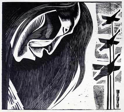 Шаман (1965) БУМАГА. ЛИНОГРАВЮРА