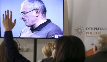 "MOSCOW, RUSSIA. DECEMBER 9, 2015. The video screen shows former YUKOS head Mikhail Khodorkovsky as he addresses journalists in an office of the Otkrytaya Rossiya movement via a live video link. Mikhail Japaridze/TASS  ??????. ??????. 9 ??????? 2015. ?????? ?????-??????????? ? ???-????? ""?????"" ??????? ????????????? ? ????? ????????????? ???????? ""???????? ??????"". ?????? ???????????? ??? ?????? ?? ?????? ? ???????? ??????????? ?? ?????????? ???? ?? ???????? ???? ???????????? ????????? ????????. ?????? ??????????/????"