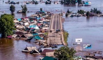 крыши домов наводнение в иркутске